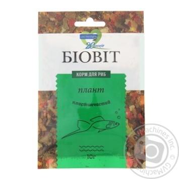 Сухой корм для аквариумных рыб Природа в хлопьях Биовит Плант 10г
