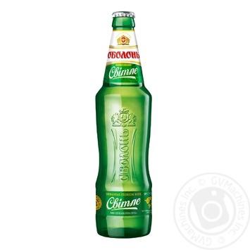 Пиво Оболонь світле 0,5л - купити, ціни на Novus - фото 1