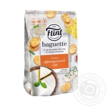 Сухарики Flint Baguette пшеничний смак французький сир 110г - купити, ціни на Ашан - фото 1