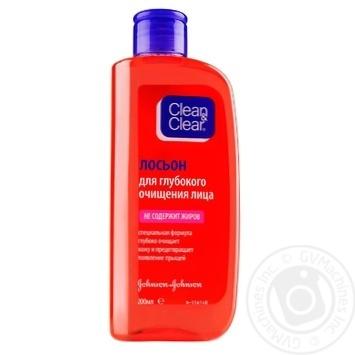 Лосьйон Clean&Clear для глубокой очистки лица 200мл - купить, цены на МегаМаркет - фото 1