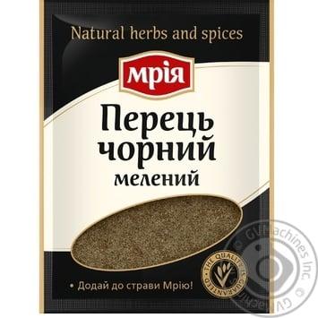Перец черный Мрия молотый 20г - купить, цены на Метро - фото 1