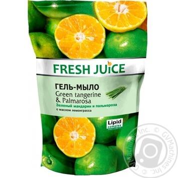 Гель-мыло Fresh Juice Green tangerine & Palmarosa 460мл - купить, цены на СитиМаркет - фото 1