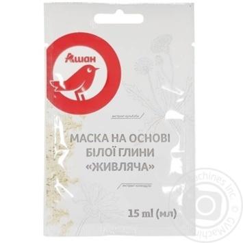 Маска для лица Ашан на основе белой глины питающая 15мл - купить, цены на Ашан - фото 1