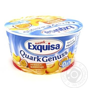Десерт творожный Exquisa Персик-маракуйя 0,2% 500г - купить, цены на Фуршет - фото 1