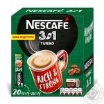 Напиток кофейный Nescafe 3в1 Turbo растворимый в стиках 13г