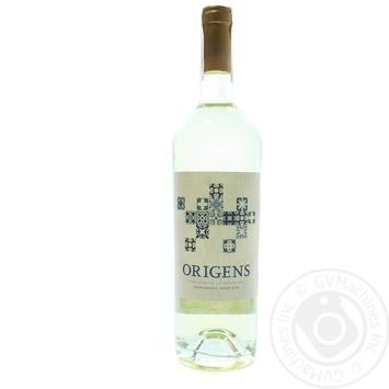 Вино Origens White Alentejano белое сухое 12,5% 0,75л - купить, цены на Novus - фото 1
