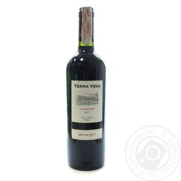 Вино Terra Vega Carmenere Kosher Valle Central червоне сухе 13% 0,75л - купити, ціни на Novus - фото 1