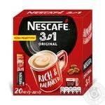 Кофейный напиток Нескафе 3в1 Original растворимый в стиках 20*16г