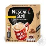 Напиток кофейный Nescafe 3в1 Ultra Creamy растворимый в стиках 20*16г