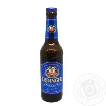Пиво Эрдингер безалкогольное солодовое светлое стеклянная бутылка 330мл Германия
