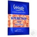 Креветки Veladis неразобранные варено-мороженые глазированные 70-90 1кг
