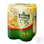 Lvivske 1715 light pasteurized beer can 4.7% 4pcs 0.5l