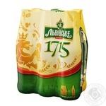 Пиво Львовское 1715 светлое пастеризованное 6шт 4.7% 0,45л