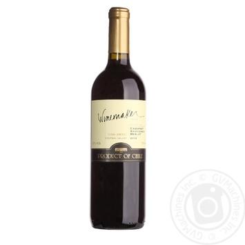 Вино Winemaker Каберне Совіньйон-Мерло червоне напівсолодке 12% 0,75л - купити, ціни на Novus - фото 1