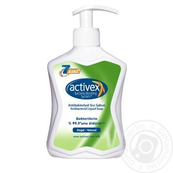 Мыло жидкое Activex антибактериальное натуральное 300мл - купить, цены на Novus - фото 1