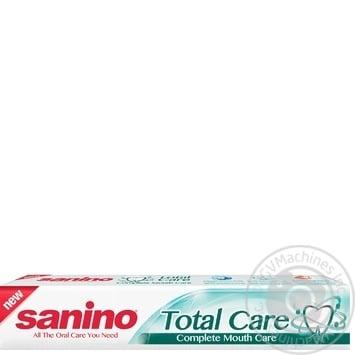Зубная паста Sanino Комплексный уход с минералами и фтором 100мл/128г - купить, цены на Метро - фото 1