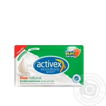 Мыло Activex Duo Natural антибактериальное 120г - купить, цены на Ашан - фото 1