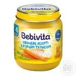 Пюре Bebivita Овочеве асорті з курчам та рисом м'ясо-овочеве для дітей з 4 місяців 125г