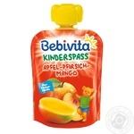 Bebivita Apple-Peach-Mango For Babies From 12 Months Fruit Puree 90g