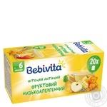 Фиточай Bebivita Фруктовый низкоаллергенный для детей с 6 месяцев 30г