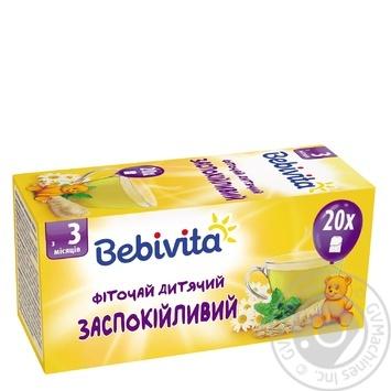 Фиточай Bebivita успокоительный для детей с 3 месяцев 30г - купить, цены на Novus - фото 1