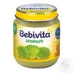 Пюре овочеве Bebivita Броколі для дітей з 4 місяців 125г