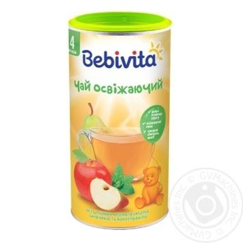 Чай Bebivita Освежающий сухой быстрорастворимый для детей с 4 месяцев 200г - купить, цены на Метро - фото 1