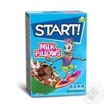 Сухие завтраки Start! зерновые подушечки с молочной начинкой 250г