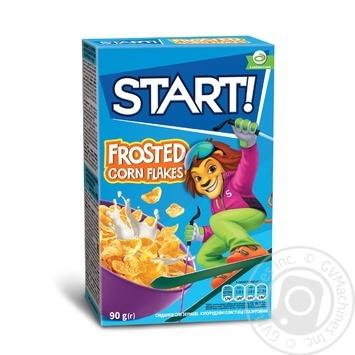 Сухі сніданки Start! зернові пластівці кукурудзяні глазуровані 90г - купити, ціни на Novus - фото 1