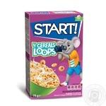 Сухие завтраки Start! зерновые кольца зерновые глазированные 75г - купить, цены на Восторг - фото 1