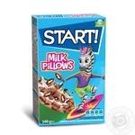Сухие завтраки Start! зерновые подушечки с молочной начинкой 100г