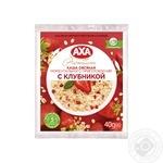 Каша овсяная AXA с клубникой моментального приготовления 40г - купить, цены на МегаМаркет - фото 1