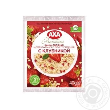 Каша вівсяна AXA з полуницею миттєвого приготування 40г - купити, ціни на Novus - фото 1