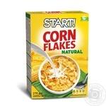Сухі сніданки Start! пластівці кукурудзяні натуральні 270г - купити, ціни на Ашан - фото 1