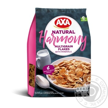 AXA Harmony Multigrain Flakes Enriched With Minerals 500g - buy, prices for MegaMarket - image 1