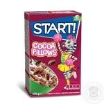 Сухие завтраки Start! зерновые подушечки с какао начинкой 100г