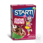 Start! With Cocoa Filling Grain Pillows Dry Breakfast 250g
