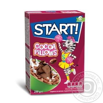 Сухі сніданки Start! зеренові подушечки з какао начинкою 250г - купити, ціни на Novus - фото 1