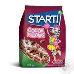 Сухие завтраки Start! зерновые подушечки с какао начинкой 500г