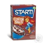 Сухие завтраки Start! шарики с какао 250г