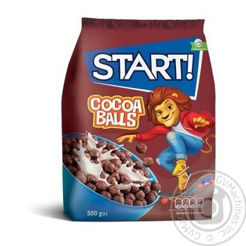 Сухие завтраки Start! зерновые шарики с какао 500г - купить, цены на МегаМаркет - фото 1