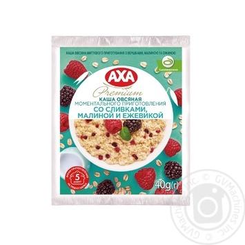 Каша овсяная AXA со сливками малиной и ежевикой моментального приготовления 40г - купить, цены на Novus - фото 1