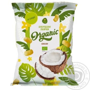 Ecorod Organic Corn sticks coconut 70g - buy, prices for MegaMarket - image 1