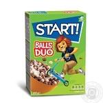 Сухие завтраки Start! Шарики Duo зерновые 250г