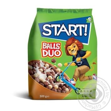 Сухие завтраки Start! Шарики Duo зерновые 500г - купить, цены на МегаМаркет - фото 1