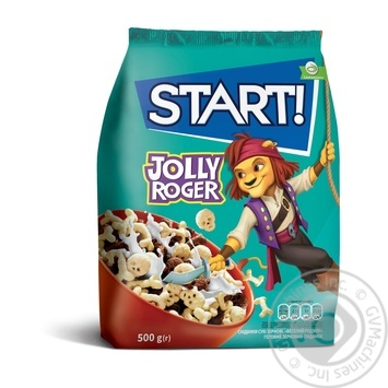 Сухие завтраки Start! Jolly Roger зерновые 500г