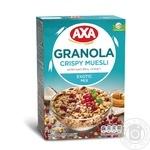 Мюсли AXA хрустящие медовые с семенами льна клюквой и кокосом 375г