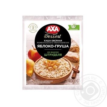 Каша вівсяна AXA Premium миттєвого приготування Яблуко-Груша зі смаком штруделю 40г
