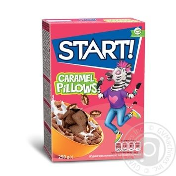 Сухие завтраки Start! подушечки с ароматом карамели 250г