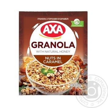 Завтраки сухие зерновые АХА Гранола с орехами в карамели 40г - купить, цены на ЕКО Маркет - фото 1